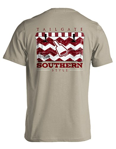 College Tailgate - Cowbell - Chevron Cooler - Small - T-Shirt front-205210