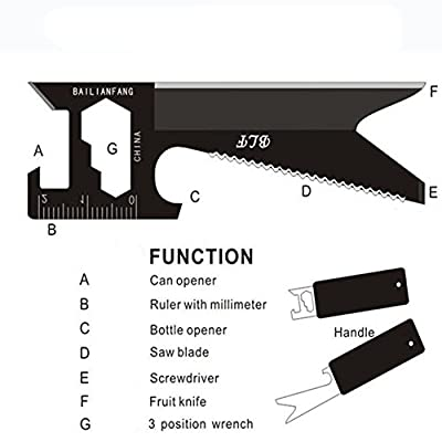 Minzhao Universal multifunctional portable saber card card knife camping survival tool card from Minzhao