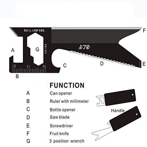 Minzhao Universal multifunctional portable saber card card knife camping survival tool card
