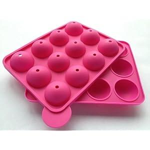 pop cake maker 240 stiele silikonform silikonbackform popcake kuchen am stiel pink amazon. Black Bedroom Furniture Sets. Home Design Ideas