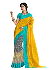 Designer Fanciful Multi Colored Printed Bhagalpuri Silk Saree By Triveni