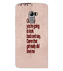 PrintDhaba Quote D-4762 Back Case Cover for LENOVO VIBE K4 NOTE (Multi-Coloured)