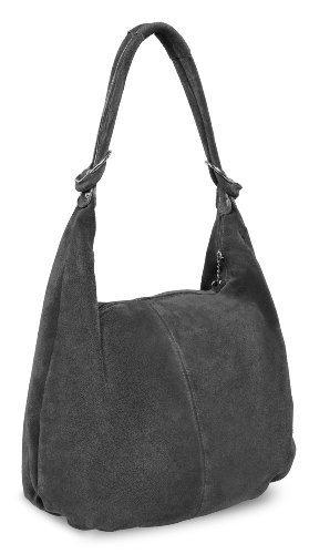 """Bags4Less Shopper """"Monaco"""" in Pelle scamosciata / Nappa pelle - grigio, XL"""
