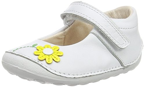 Clarks - Little Jam, Sneakers per bambine e ragazze, bianco (white leather), 19