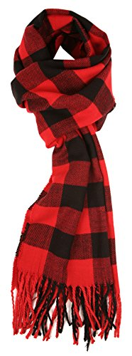 love-lakeside-womens-cashmere-feel-winter-plaid-scarf-red-buffalo-check