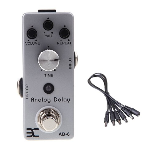 Global Sale Eno Ex Micro Ad-6 Analog Delay Guitar Effect Pedal Compact Mini Size True Bypass+5 Way Daisy Chain Cable