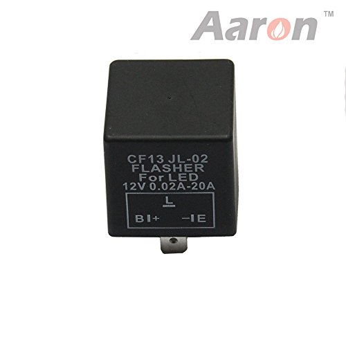 1Pc Aaron Cf-13 Cf13 3 Pin Led Turn Signal Flasher Relay For Hyper Blinking Flash Decoder Load Equalizer 12V 0.1W - 150W