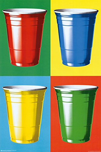 Posterservice Party Cups Colors Poster