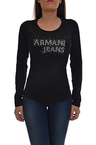 armani-jeans-round-neck-stud-logo-long-sleeved-top-12-black