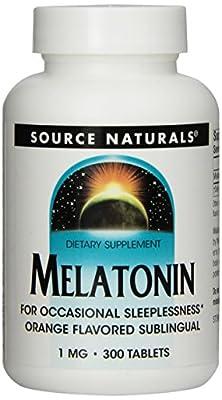 Source Naturals Melatonin 1mg, Orange, 300 Tablets