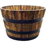 REAL WOOD PRODUCTS G3056 Half Whiskey Barrel