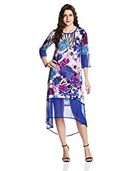 Rain and Rainbow Women's Shift Dress (4301-SS/02-01_Blue_Large)