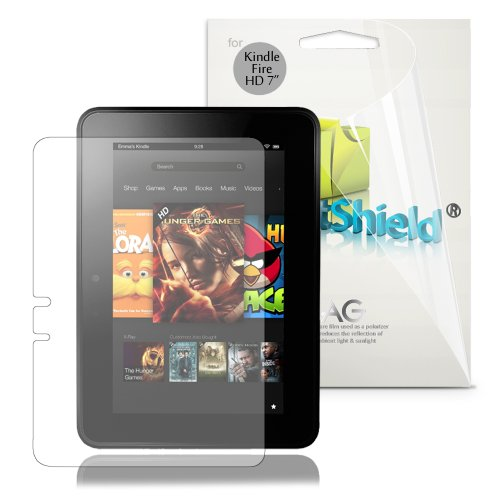 "GreatShield Ultra Anti-Glare (Matte) Clear Screen Protector Film for Amazon Kindle Fire HD 7"" Inch Tablet (3 Pack) - LIFETIME WARRANTY"