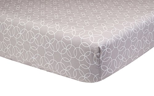 Trend Lab Circles Gray Crib Sheet