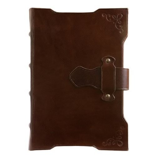 The FRANCISCAN LATCH Journal in Brown Fine Leather 6x8 - Made in Italy - by Eccolo™ - 5x7 (Leather Journal Made In Italy compare prices)