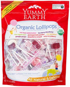 Yummyearth Organic Lollipops, Assorted Flavors, 12.3-ounce Bag Picture