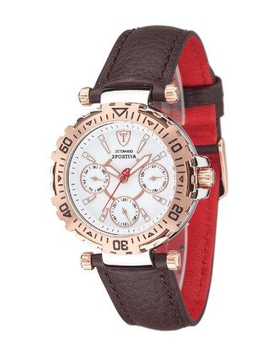 DeTomaso DT3016-G - Reloj de pulsera mujer, piel, color marrón