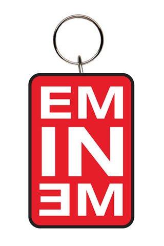 Eminem - Logo Red - Gomma portachiavi - dimensioni circa 5 cm