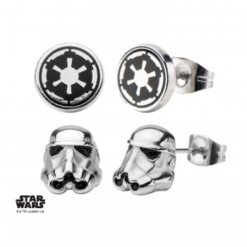 STAR WARS Special Set orecchini, Stormtrooper e imperium simbolo, acciaio inox