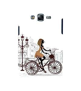 printtech City Modern Cycle Girls Back Case Cover for Samsung Galaxy Quattro i8552 / Samsung Galaxy Quattro Win i8552