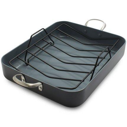 GreenPan Healthy Ceramic Nonstick Roasting Pan CW001607-002 , Grey