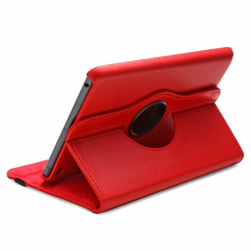 Aduro Rotata 360 Degrees Rotating Stand Case For Apple Ipad Mini (Red) Retail Packaging