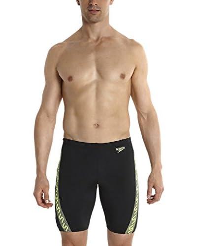 Speedo Shorts da Bagno Monogram Jam Am [Nero/Giallo Fluo]