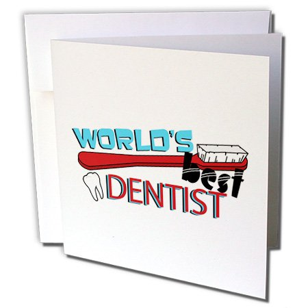 Gc_165822_2 Janna Salak Designs Occupational Gifts - Worlds Best Dentist - Greeting Cards-12 Greeting Cards With Envelopes