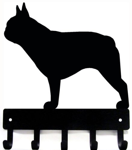 French Bulldog Key Rack/ Dog Leash Hanger - Artisan Metal Shop Gifts & Awards - Large 9 inch wide (French Bulldog Key Rack compare prices)
