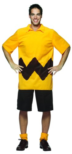 Mens Charlie Brown Peanuts Halloween Costume Shirt