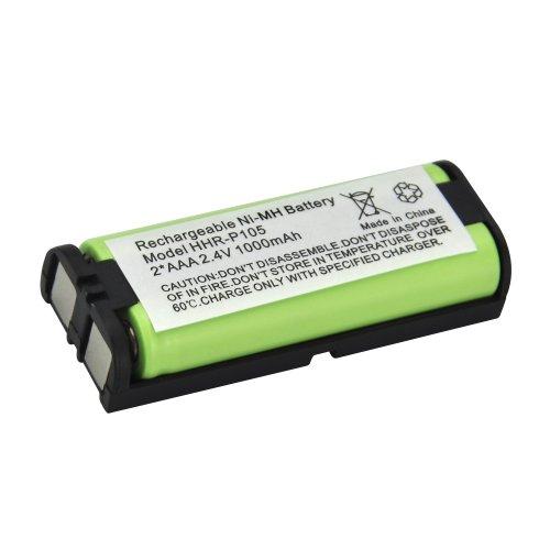 Panasonic Hhr-P105 Cordless Phone Battery,Green,1000Mah front-512891