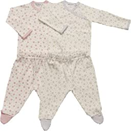 Under the Nile Organic Dot Side Snap Layette Set