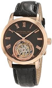 Stuhrling Original Men's 312.334554 Tourbillon Dominous Limited Edition Mechanical Rose Tone Watch