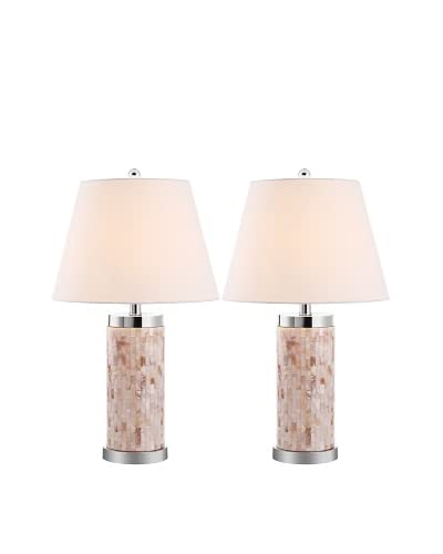 Safavieh Set of 2 Diana Shell Table Lamps