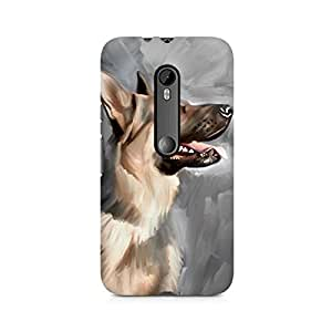 Mobicture Dog Premium Designer Mobile Back Case Cover For Moto X Play