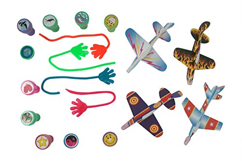 194 Piece Toy Assortment - Foam Gliders, Assorted Stampers, And Sticky Glitter Hands front-1011706