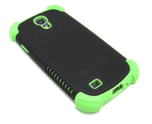 Cell-Nerds Nerdshield Grip Case Cover For The Samsung Galaxy S4 - Cell-Nerds Packaging (Black On Lime)
