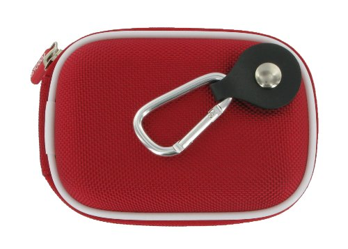 rooCASE Nylon Hard Shell (Red) Carrying Case with Memory Foam for Nikon Coolpix S6100 Digital Camera