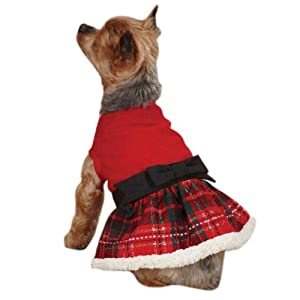 East Side Collection ZM2915 12 83 Yuletide Tartan Party Dress for Dogs, Small, Red