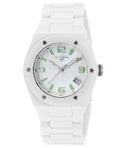 Swiss Legend Women's 10054-WWSA Throttle Analog Display Swiss Quartz White Watch