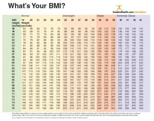 Bmi Index Chart Poster