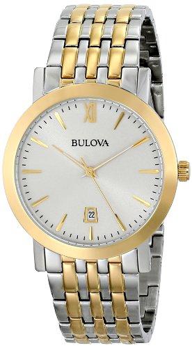 For sale Bulova Unisex 98B221 Analog Display Japanese Quartz Two Tone Watch