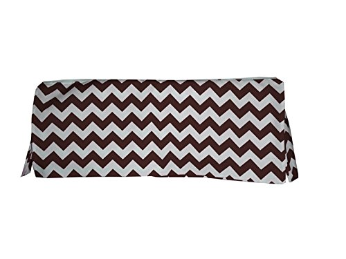Baby Doll Chevron Crib Dust Ruffle Skirt, Brown