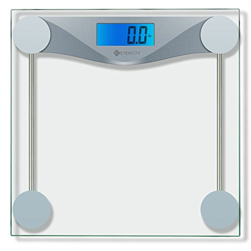 Etekcity Digital Body Weight Scale, Tempered glass, 400 Pounds