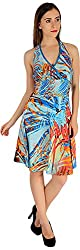 Holidae Women's Tropical Printed Midi Dress (hi-dr-md-039_L, Multicolour, L)
