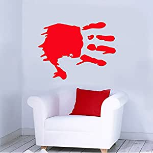 Bloody handprint zombies removable wall for Bloody wall mural