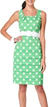 AGB Polka Dots Tiered Belted Dress
