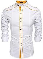 Coofandy Men's Button Down Dress Shirts Casual Slim Fit Shirts