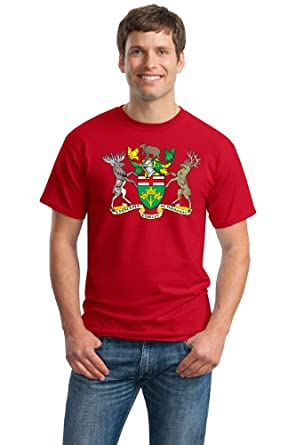 Ontario Provincial Coat Of Arms Adult Unisex T Shirt