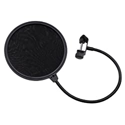 AGPtek&reg; 6 inch Microphone Wind Screen Pop Filter Mask Shied